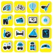 Set of stickers travel — Stockvektor