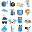 Stock Vector: Set of travel icons - part 1