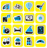 Set of stickers travel — Stock Vector