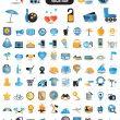 100 detailed icons for travel vacation recreation - Stockvektor