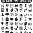 Stock Vector: Set of education science icons