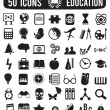 Set of education science icons - Stock Vector