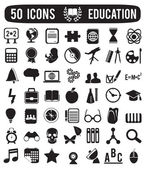 Set of education science icons — Stock Vector