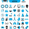 Set of medicine health icons - Stock Vector