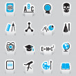 Labels for education and science - part 1 — Stock Vector