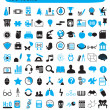 Royalty-Free Stock Vector Image: 100 icons for education science