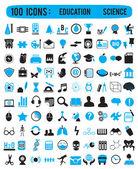 100 ícones para a educação ciência — Vetorial Stock