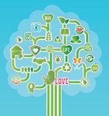 生态的概念 — 图库矢量图片