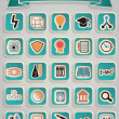 Stock Vector: Set of education icons - part 1