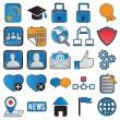 Icons for community - Stock Vector