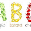 Vetorial Stock : Alphabetic letters from fruit - ABC