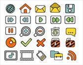 40 doodle web icons — Stock Vector