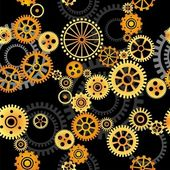 Seamless vector background - gears — Stock Vector