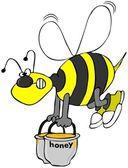 Biet bär krukor honung — Stockfoto