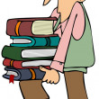 Stock Photo: Student carrying books