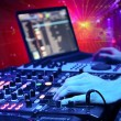 Dj mixes track in nightclub — Stock Photo #10853487