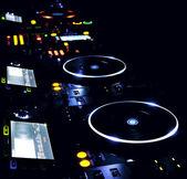 DJ CD player and mixer — Stock Photo