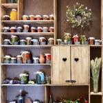 Jars of pickled vegetables — Stock Photo