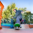 Skateboarder in the skatepark — Stock Photo #11036361