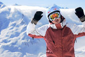 Portrait of a snowboarder — Stockfoto