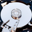 Macro view of hard drive inside — Stock Photo