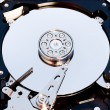 Macro view of hard drive inside — Stock Photo #11393459