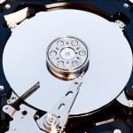 Macro view of hard drive inside — Stock Photo