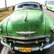 Stock Photo: Classic old car green color