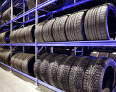 Car tires closeup — Foto Stock