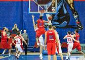 Playing Basketball teams — Stock Photo