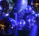 Disco ball at nightclub — Stock Photo