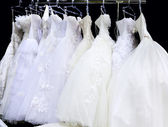 Wedding dresses — Stock Photo