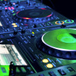 Foto Stock: DJ CD player and mixer