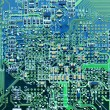 Stock Photo: Closeup of computer circuit board