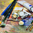 Artistic equipment — Stock Photo