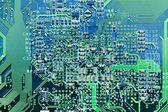 Closeup of computer circuit board — Stock Photo