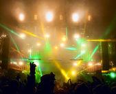 Silhouettes of ve müzisyenler — Stok fotoğraf