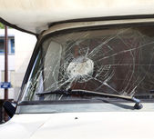 Broken car windshield — Stock Photo