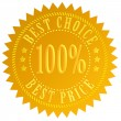 Best choice label - Stock fotografie