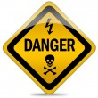 Stock Photo: Danger warning sign