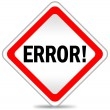 Error icon - Stockfoto