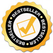 Bestseller sticker — Foto de Stock
