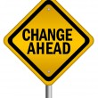 Stock Photo: Change ahead sign