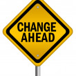 Change ahead sign — Stock Photo #11161596