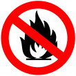 Stock Photo: No fire sign