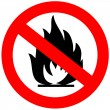 No fire sign — Stock Photo #11161638