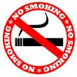 No smoking sign - 图库照片