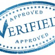 Verified stamp — Stock Photo