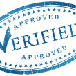 Verified stamp - Stock Photo