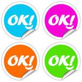 Ok stickers — Stock Photo